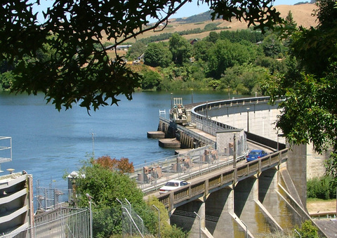 Hydro Dam wall at Lake Karapiro