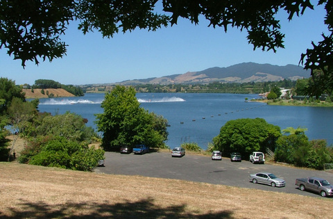 Lake Karapiro from Karapiro Village