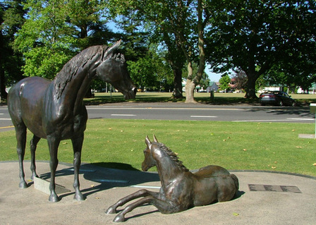 Bronze Mare and Foal Cambridge