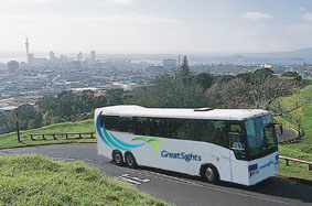 Book now online your 'Great Sights' Day tours, or your Inter City Bus Trip from NZ$1